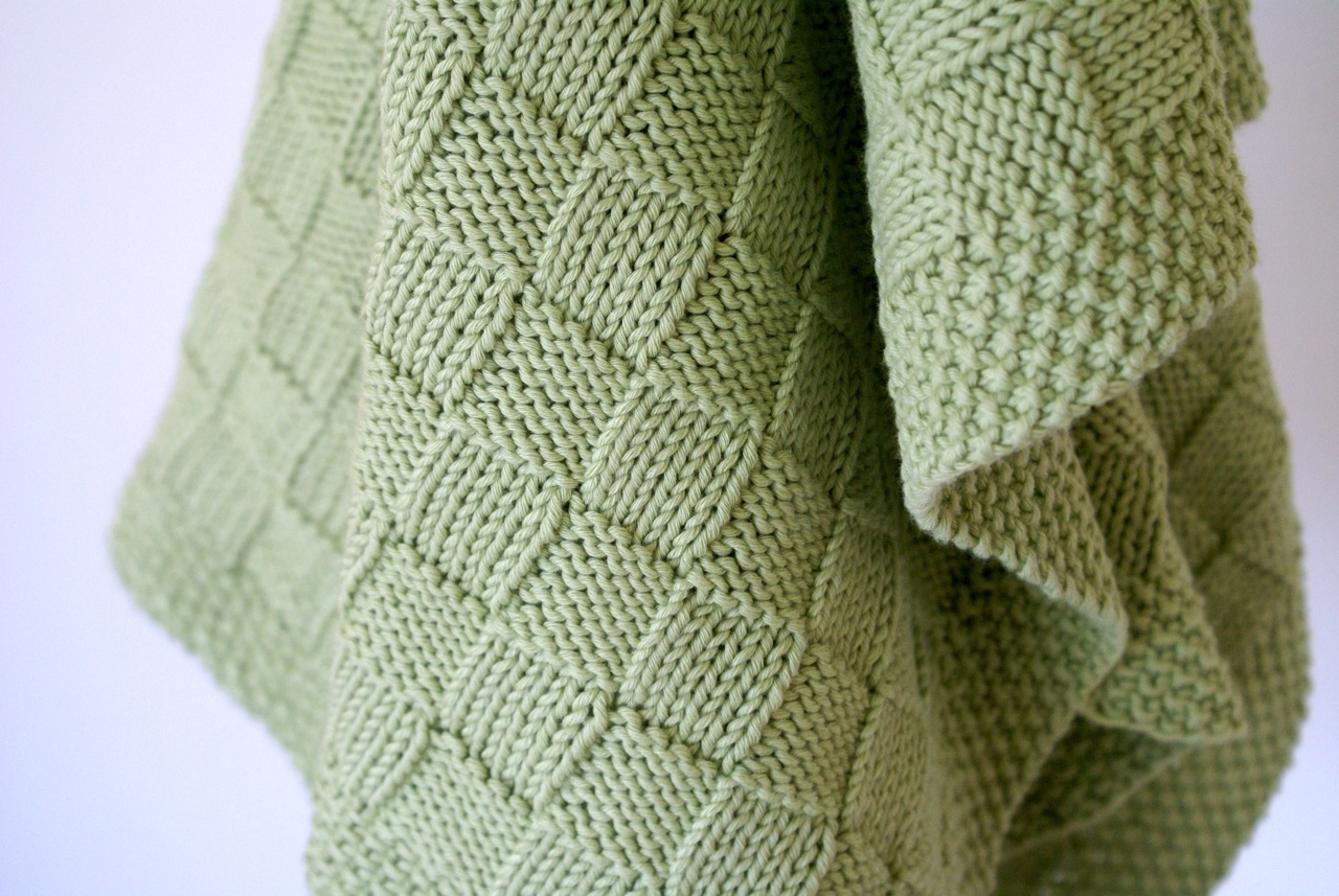 Basketweave Blanket in Sublime Organic Cotton