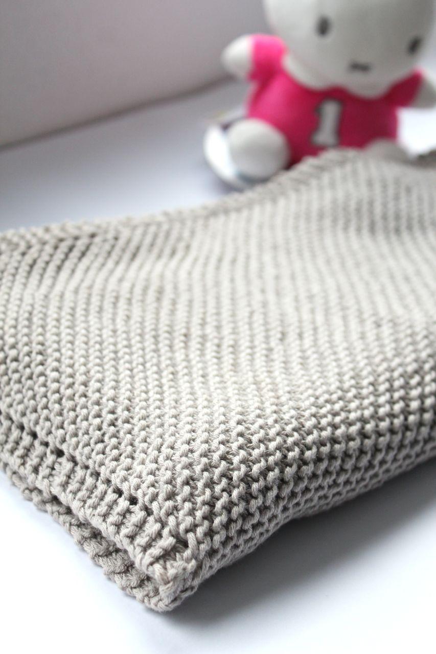 Diagonal Baby Blanket in Rowan