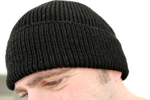 Knitted Watch Cap Pattern : Ribbed Watch Cap in Malabrigo